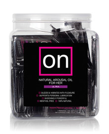 ON FOR HER AROUSAL OIL ULTRA 75PC SINGLE USE AMPOULE TUB