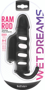 WET DREAMS RAM ROD PENIS EXTENSION SLEEVE W/ POWER BULLET