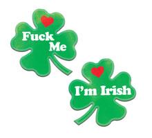 PASTEASE CLOVER 'FUCK ME IM IRISH' NIPPLE PASTIES