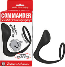 COMMANDER PROSTATE PLEASER COCKRING BLACK