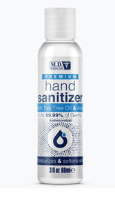 MD SCIENCE LAB PREMIUM HAND SANITIZER W/ TEA TREE OIL & ALOE (W/ ALCOHOL) 3 FL OZ