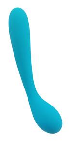 CLOUD 9 HEALTH & WELLNESS RECHARGEABLE G-SPOT SLIM 7IN DUAL MOTORS AQUA BLUE