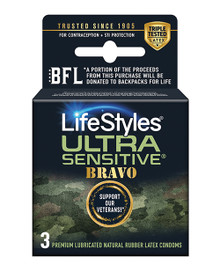 LIFESTYLES ULTRA SENSITIVE BRAVO 3PK
