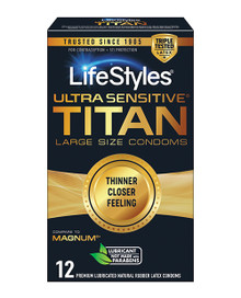 LIFESTYLES ULTRA SENSITIVE TITAN 12PK