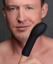TRINITY FOR MEN 10X VIBRATING SILICONE FINGER SLEEVE (Out Beg Jan)