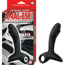ANAL-ESE COLLECTION VIBRATING ALPHA PLUG #3