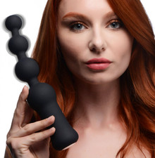 MASTER SERIES DELUXE VOODOO BEADS 10X ANAL BEADS VIBRATOR (Out Beg Jan)