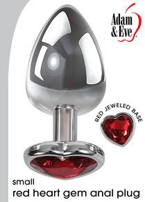 ADAM & EVE SMALL HEART RED GEM ANAL PLUG
