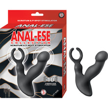 ANAL-ESE COLLECTION SCROTUM & P-SPOT STIMULATOR BLACK