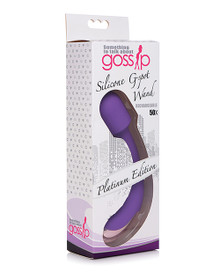 GOSSIP SILICONE G-SPOT MINI WAND RECHARGEABLE VIOLET