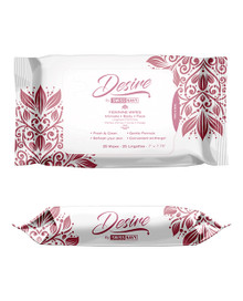 SWISS NAVY DESIRE UNSCENTED FEMININE WIPES 25CT ONE PACK