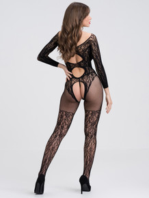 FIFTY SHADES CAPTIVATE BLACK LACE SPANKING BODYSTOCKING O/S