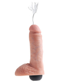 KING COCK 8 IN SQUIRTING COCK W/ BALLS LIGHT