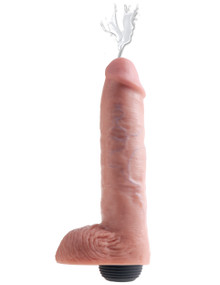 KING COCK 11 IN SQUIRTING COCK W/ BALLS LIGHT