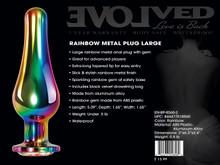 RAINBOW METAL PLUG LARGE