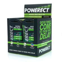 POWERECT NATURAL MALE DELAY GEL FOIL 5ML 36PC WITH POS