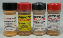 Desert Pack - 1 2oz shaker of:  Smokey Dust, Contaminated Soil, Bomun Allium (mild Garlic), and Malum Allium (Evil Garlic)