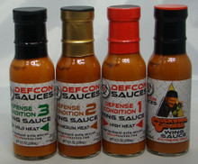 A complete set of our Wing Sauces