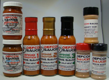 The Uber Pack contains EIGHT DEFCON Sauces products (No Superhot stuff).