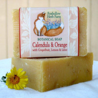 Calendula and Orange Botanical Soap