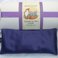 Foxhollow Herb Farm Lavender and Flaxseed Eye Pillow