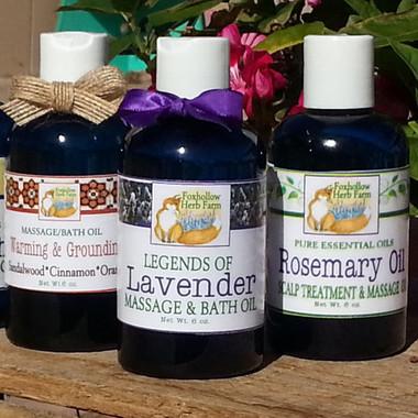 Foxhollow Herb Farm Bath & Massage Oils  8 oz. Bottles