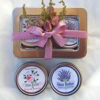 Foxhollow Herbs Shea Butter Tin Gift Set