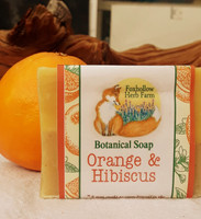 The beautiful and uplifting smell of oranges! Ingredients:  Saponified Olive Oil, Organic Sustainable Palm Oil, Coconut Oil, Shea Butter.  Orange Essential Oil, Aloe Vera and Hibiscus Powder.