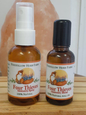 A pure essential oil blended with fractionated Coconut Oil.  FourThieves oil is an effective home remedy for minor wounds, cuts, and bruises. The antimicrobial properties of thieves blend can give you a speedy recovery from the inflammations. The oil keeps away the opportunist bacteria from infecting the wounds and cuts.