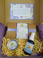 Each kit contains a one ounce Dream Balm,  Lucid Dreams Spray and Lucid Dreams Pillow Comes in a beautiful Lavender Box.