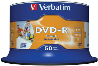 Verbatim DVD-R Printable 50 Pack