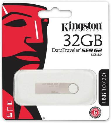 Kingston 32GB DataTraveller SE9 G2 USB 3.0 Memory Stick