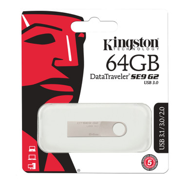 Kingston DataTraveller 64GB SE9 G2 USB 3.0 Memory Stick