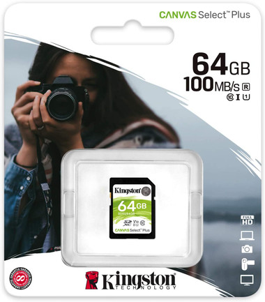 Kingston Canvas Select Plus 64GB SD card