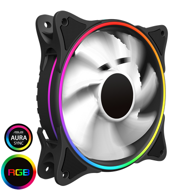 GameMax Rainbow Mirage White 120mm Cooling fan