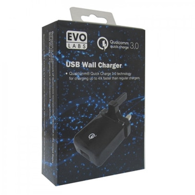 EvoLabs Qualcomm Quick Charge 3.0 USB Wall Charger