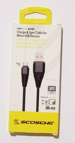 Scosche Charge and Sync Cable for Micro USB Devices