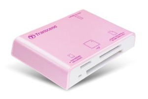 Transcend P8 USB2.0 Portable Multi-Card Reader Pink