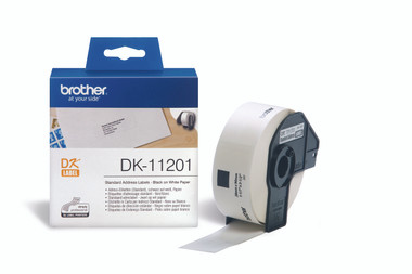 -Brother DK11201 29x90mm Standard Address Label - White (Roll of 400)