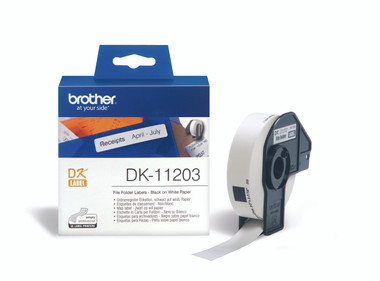 -Brother DK-11203 File Folder Label 17x87mm (Roll of 300)