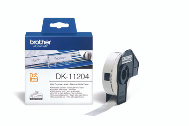 -Brother DK-11204 - Thermal paper Labels 17x54mm (Roll of 400)
