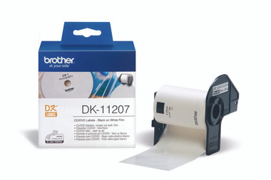 -Brother DK-11207 CD/DVD Label 58mm (Roll of 100)