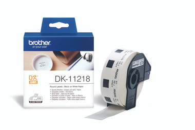 -Brother DK-11218 Round Label 24mm (Roll of 1000)