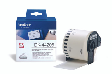 -Brother DK-44205 Continuous-length removable Label 62mm (30.48m)