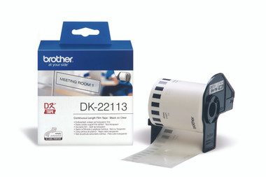 -Brother DK-22113 Continuous-length Clear Film 62mm (15.24m)