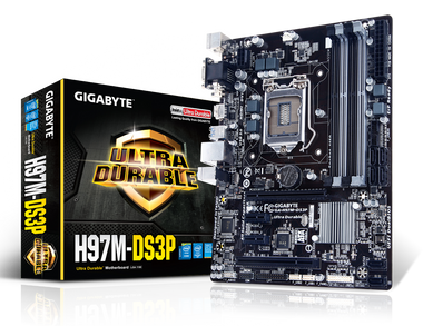 GIGABYTE 9 Series H97M-DS3P mATX Motherboard