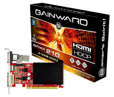 Gainward GeForce® 210 512MB - HDMI + DVI + VGA
