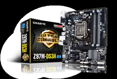 GIGABYTE Z97M-DS3H Intel LGA1150 Z97 Micro-ATX Motherboard (4x DDR3, 8x USB3.0, 4x USB2.0, GBE, LAN, HDMI, DVI-I, DSUB)