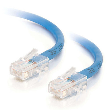 C2G 0.5m Cat5E 350MHz Non-Booted Assembled Patch Cable - Blue