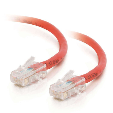 C2G 0.5m Cat5E 350MHz Non-Booted Assembled Patch Cable - Red